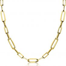 ZINZI-zilveren-ketting-45cm-in-14K-geel-verguld-met-ovale-closed-for-ever-schakels-6mm-breed-ZIC1990G