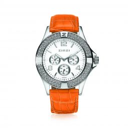 ZINZI-Watch-witte-plaat-oranje-band-UNO12