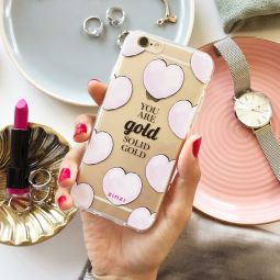 ZINZI-telefoonhoesje-transparant-'You-are-gold-solid-gold'-ZITH20