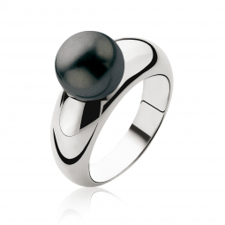 ZINZI-zilveren-ring-parel-zwart-10mm-ZIR456Z